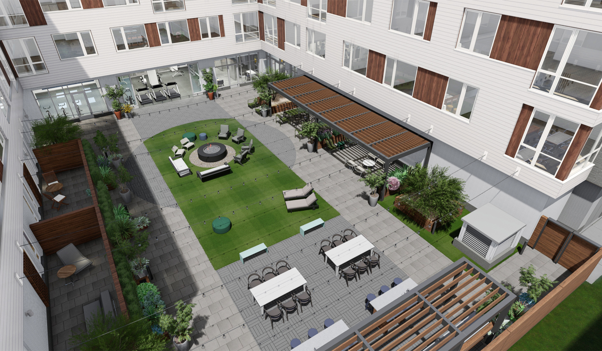 Prism Apartments Courtyard